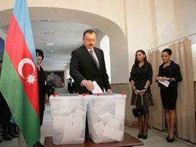 Президент Ильхам Алиев принял участие в голосовании по Референдуму