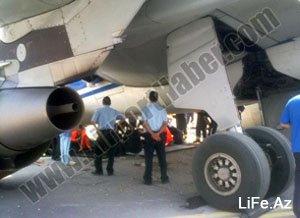 Азербайджанский самолет в стамбульском аэропорту Ататюрка вышел за пределы взлетно-посадочной полосы [2 фото]