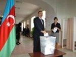 Кандидат в президенты Ильхам Алиев принял участие в голосовании [ФОТО]