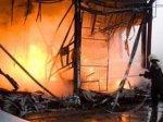 Потушен пожар в торговом центре Садарак