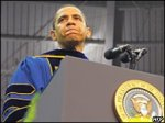 Обама в католическом университете: протесты и овации