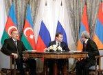 Завершилась трехсторонняя встреча президентов Азербайджана, Армении и Ро ...